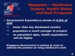 singapore healthcare system health status and best prospects