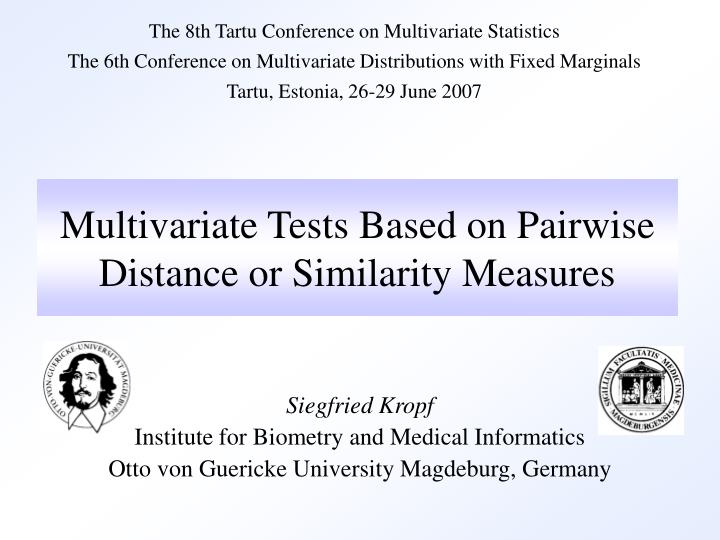 multivariate tests based on pairwise distance or similarity measures n.