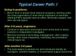 typical career path i