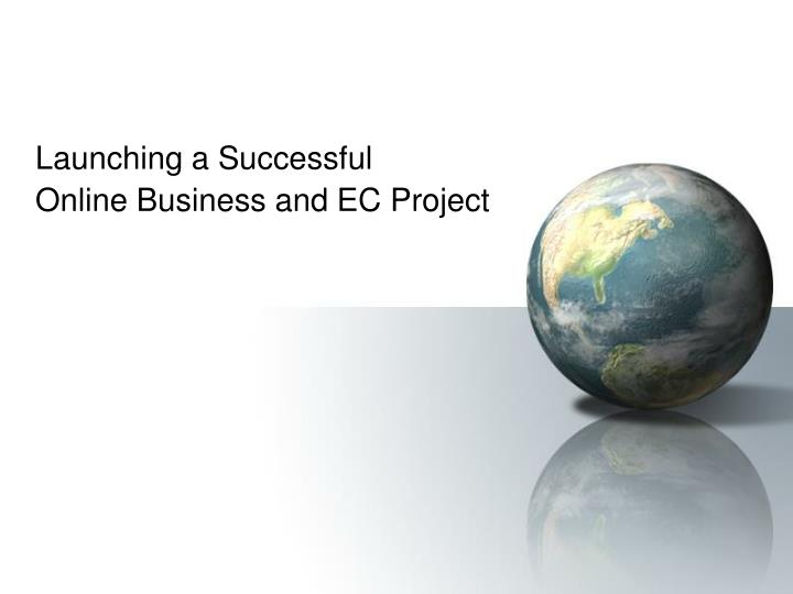 launching a successful online business and ec project n.