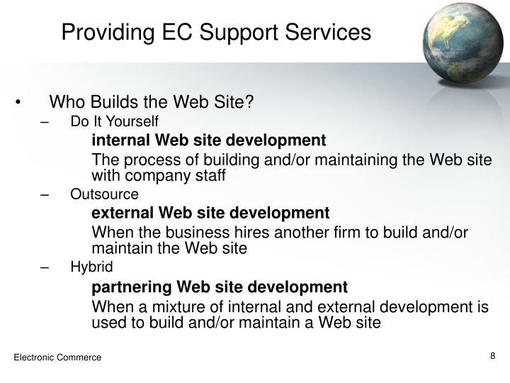 Providing EC Support Services