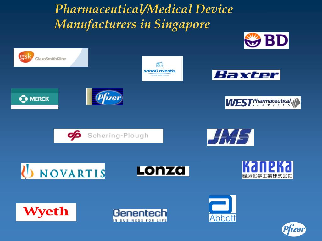 Pharmaceutical/Medical Device Manufacturers in Singapore
