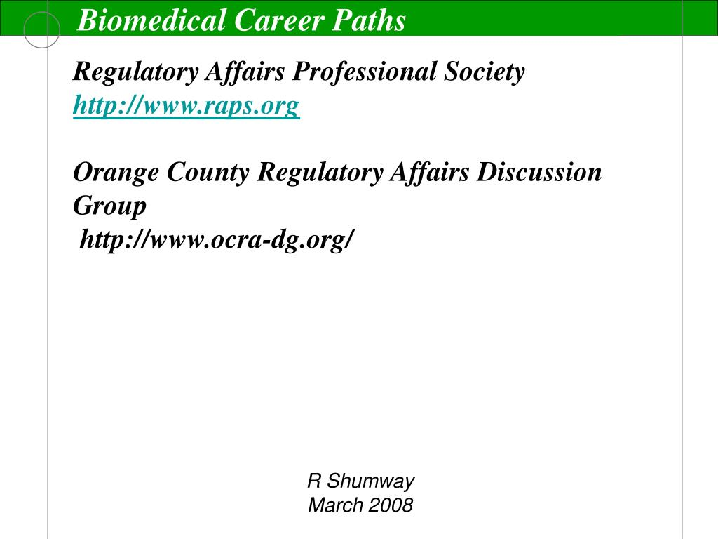 Biomedical Career Paths