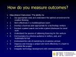 how do you measure outcomes
