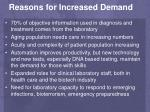 reasons for increased demand