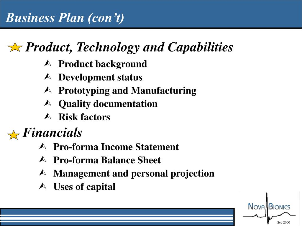 Product, Technology and Capabilities