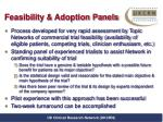 feasibility adoption panels