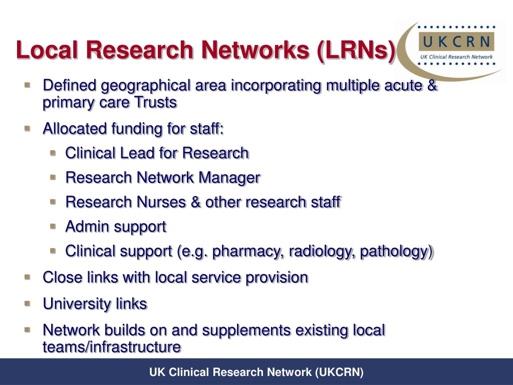 Local Research Networks (LRNs)