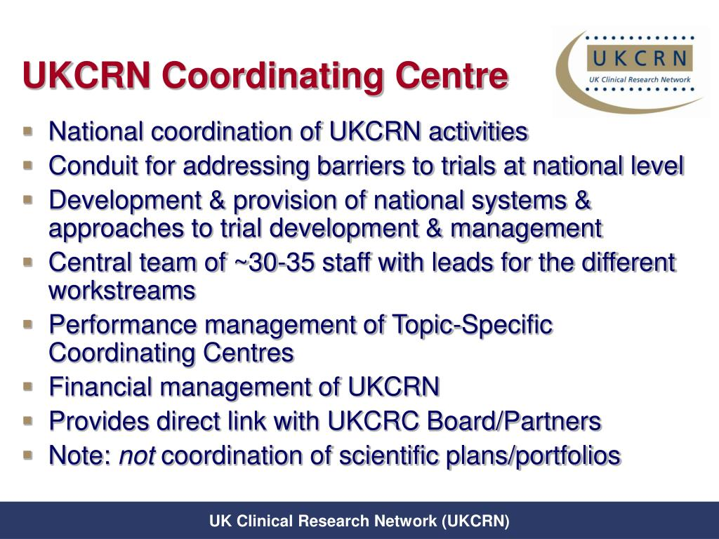 UKCRN Coordinating Centre