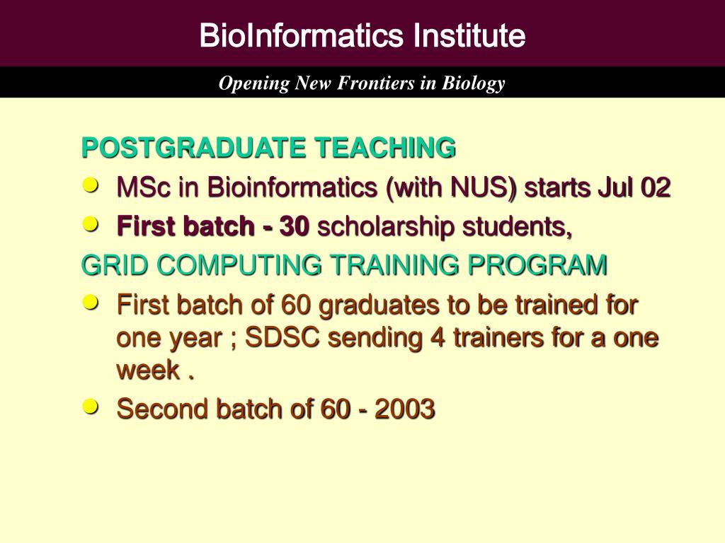 BioInformatics Institute