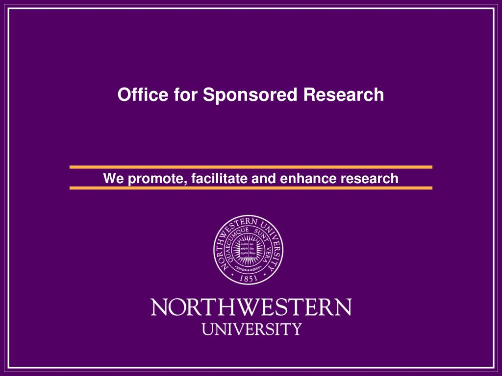 office for sponsored research l.