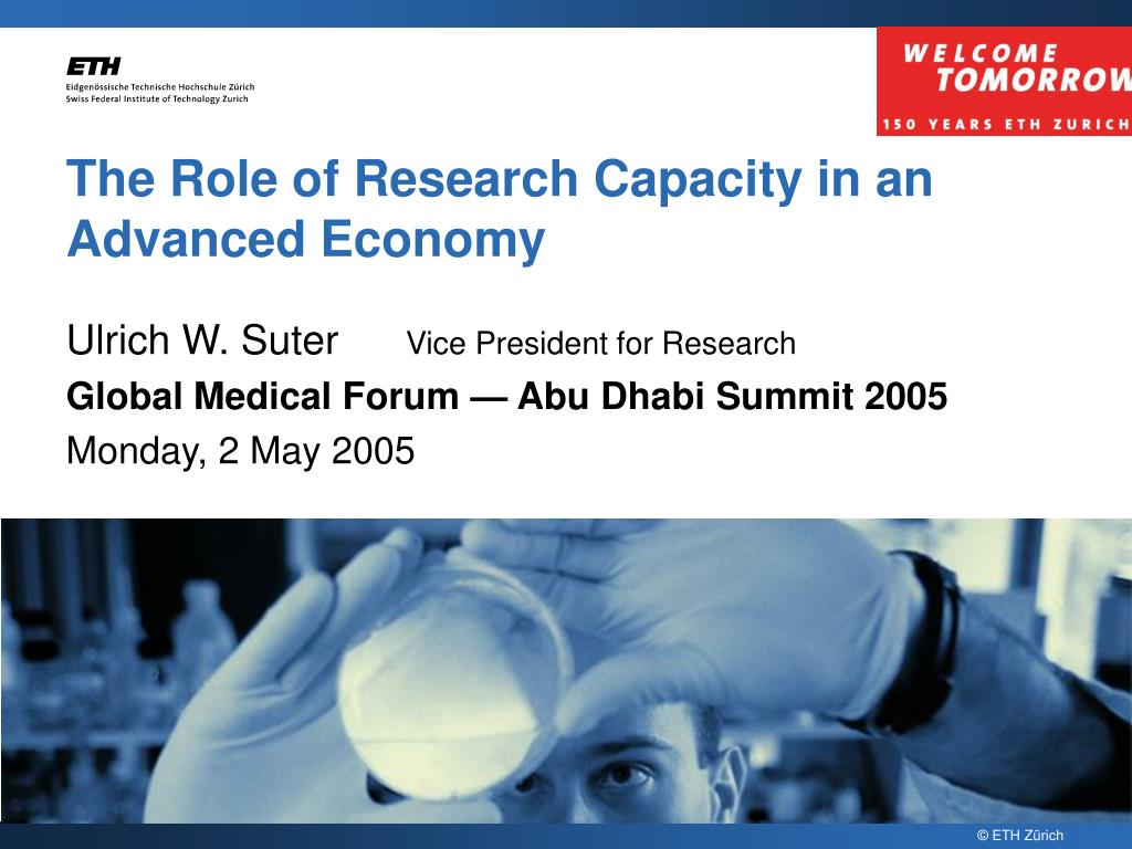 the role of research capacity in an advanced economy l.