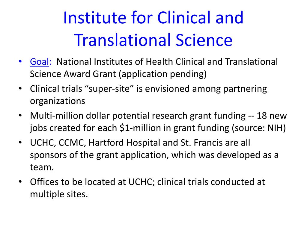 Institute for Clinical and Translational Science