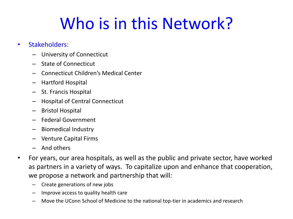 Who is in this Network?