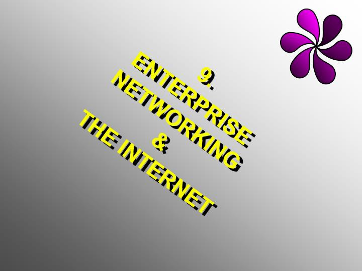 9 enterprise networking the internet n.