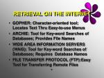 retrieval on the internet