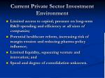current private sector investment environment