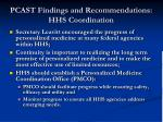 pcast findings and recommendations hhs coordination