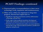 pcast findings continued