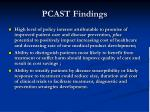 pcast findings