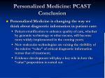 personalized medicine pcast conclusion