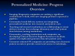 personalized medicine progress overview20