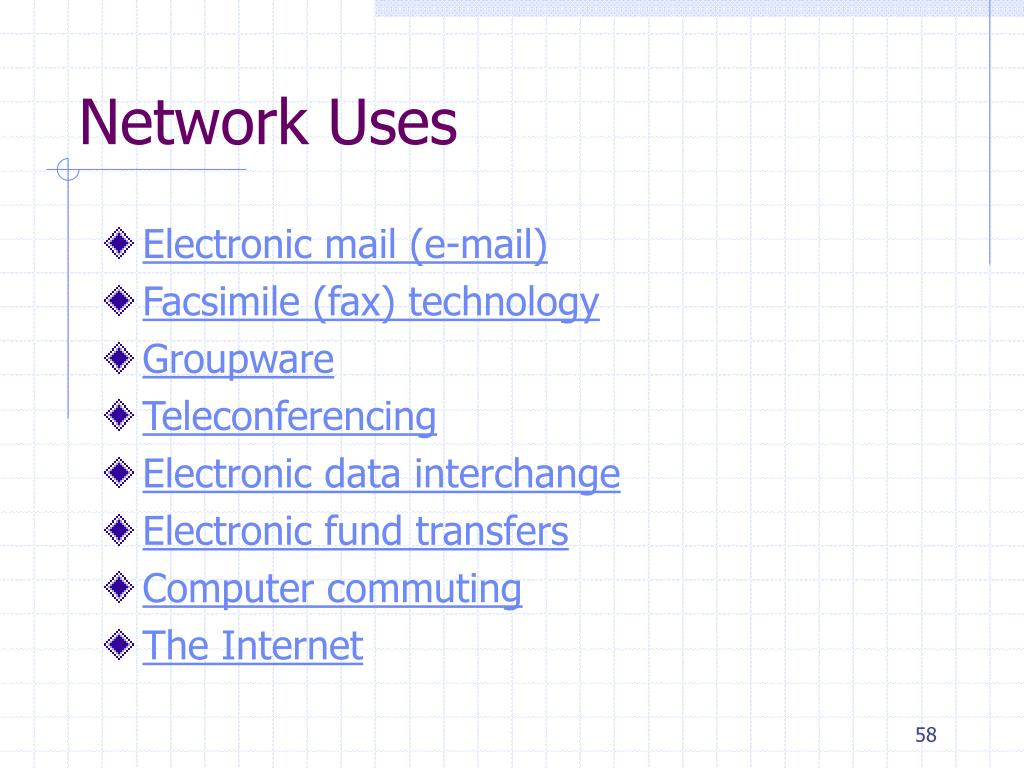 Network Uses