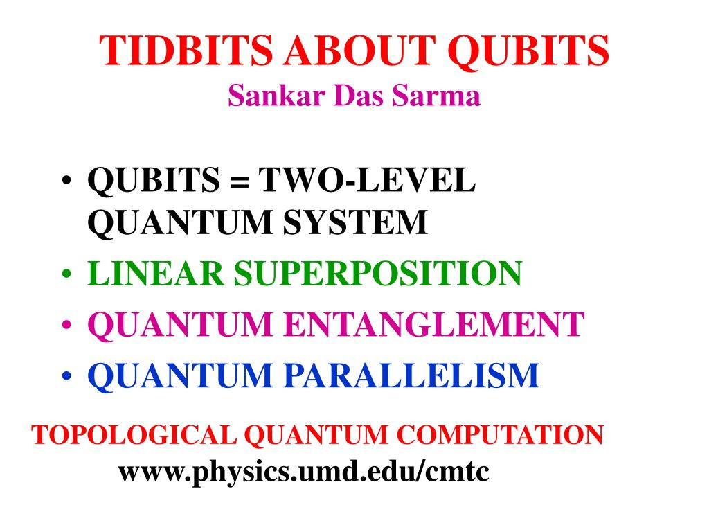TIDBITS ABOUT QUBITS