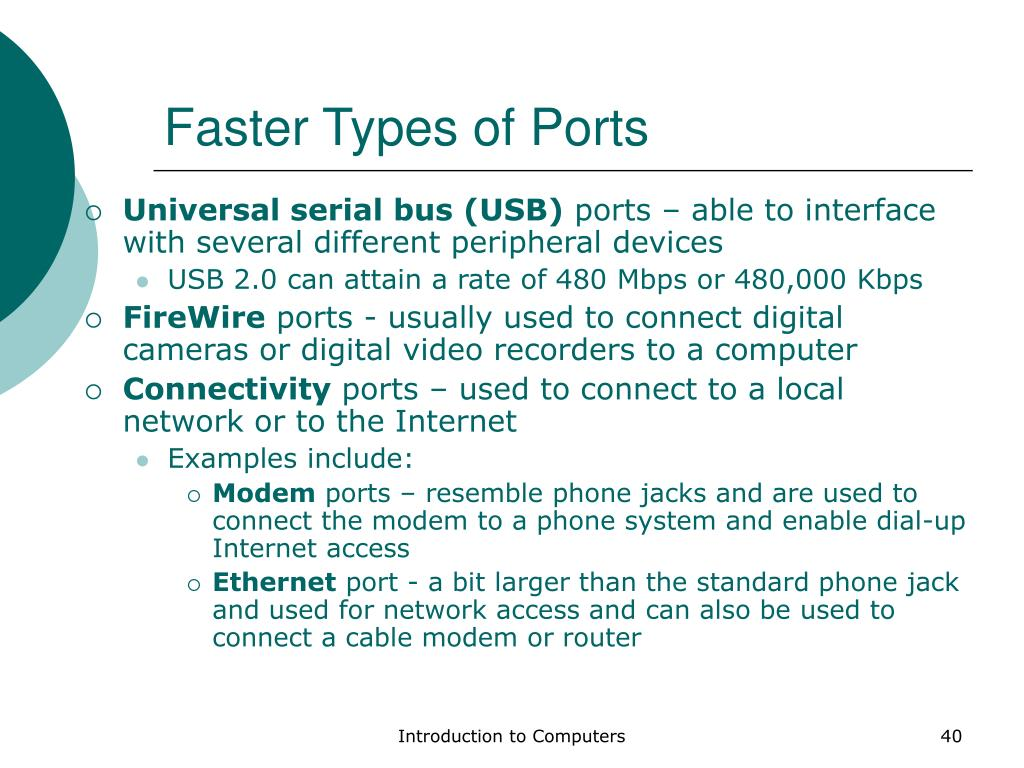 Faster Types of Ports