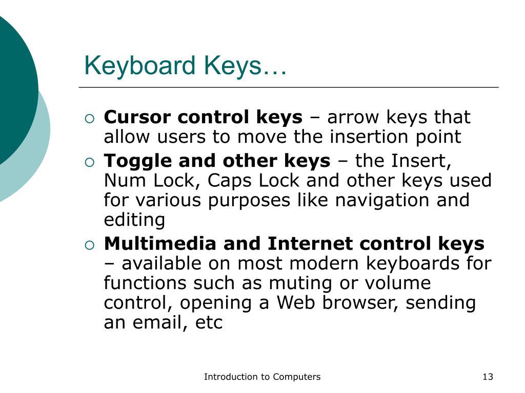 Keyboard Keys…
