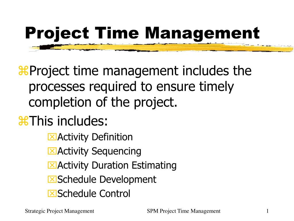 ppt - project time management powerpoint presentation - id:762295