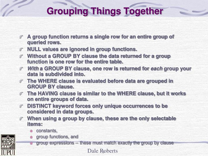Grouping things together3