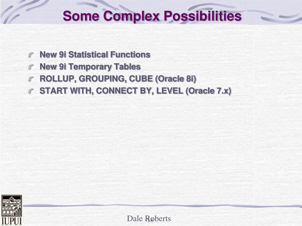 New 9i Statistical Functions