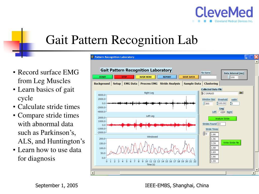 Gait Pattern Recognition Lab