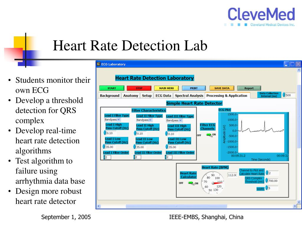Heart Rate Detection Lab
