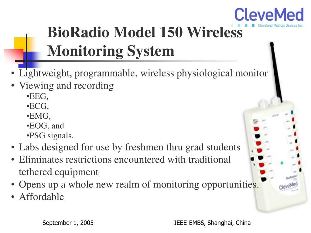 BioRadio Model 150 Wireless Monitoring System