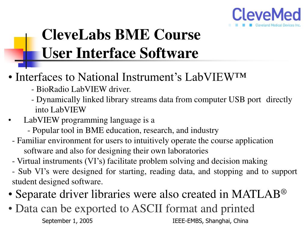 CleveLabs BME Course