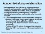academia industry relationships