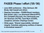 faseb phase i effort 05 06