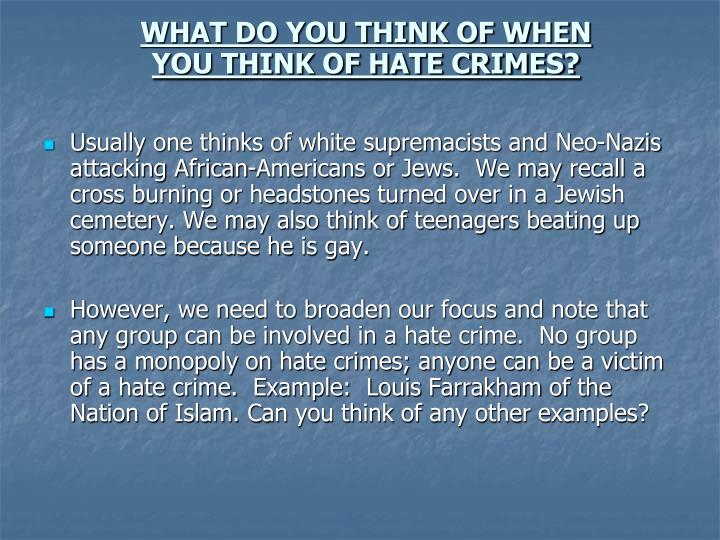 examples of hate groups