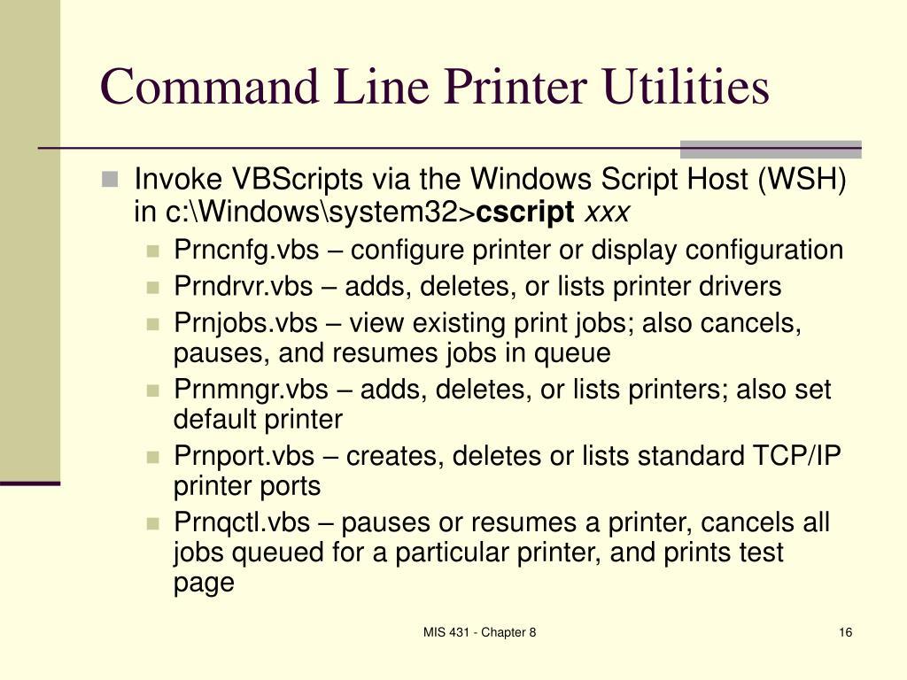 Command Line Printer Utilities
