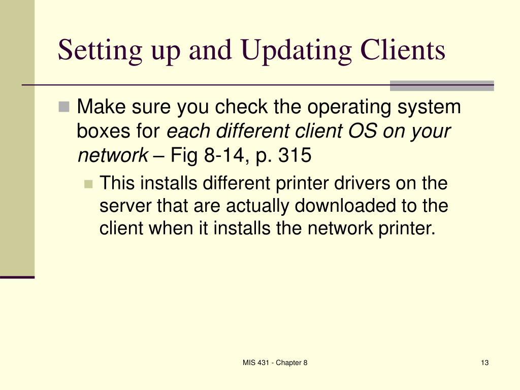 Setting up and Updating Clients