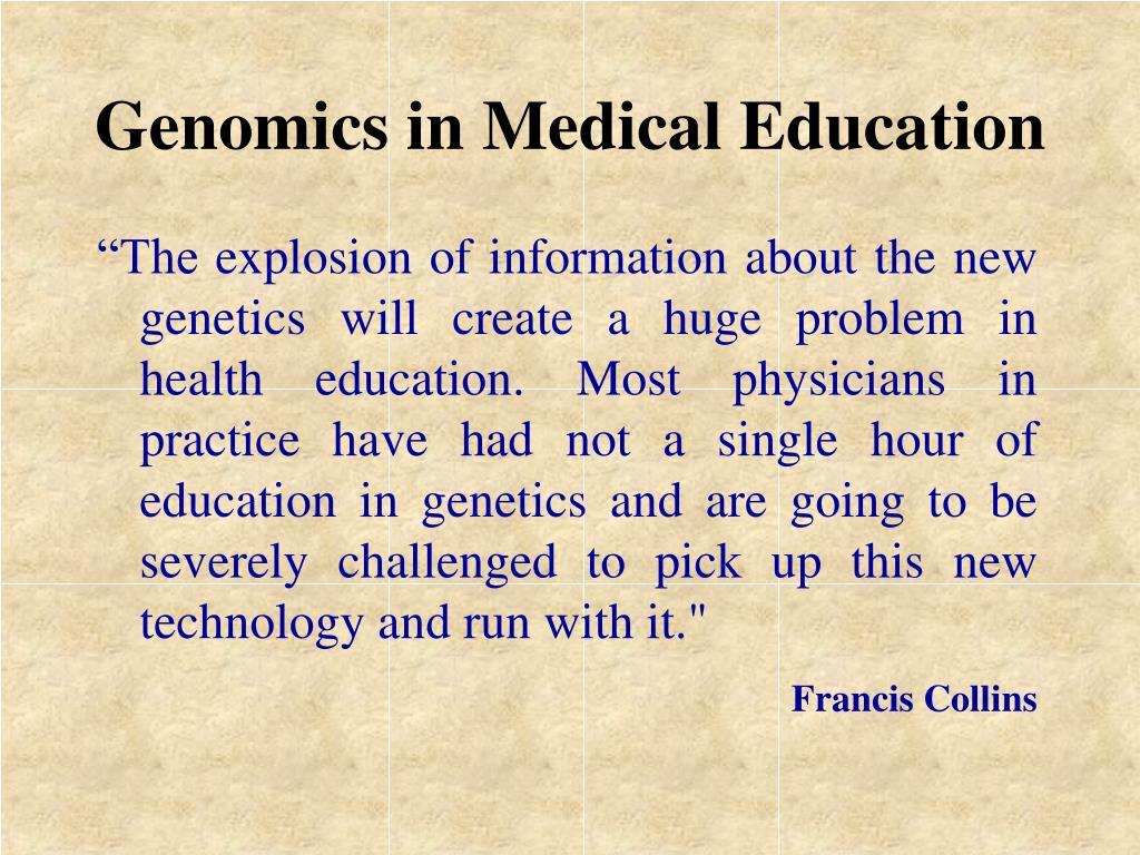 Genomics in Medical Education