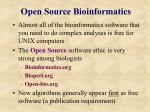 open source bioinformatics