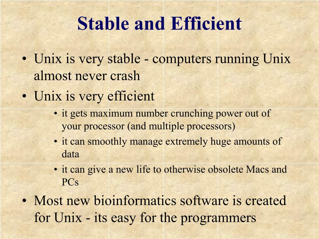 Stable and Efficient