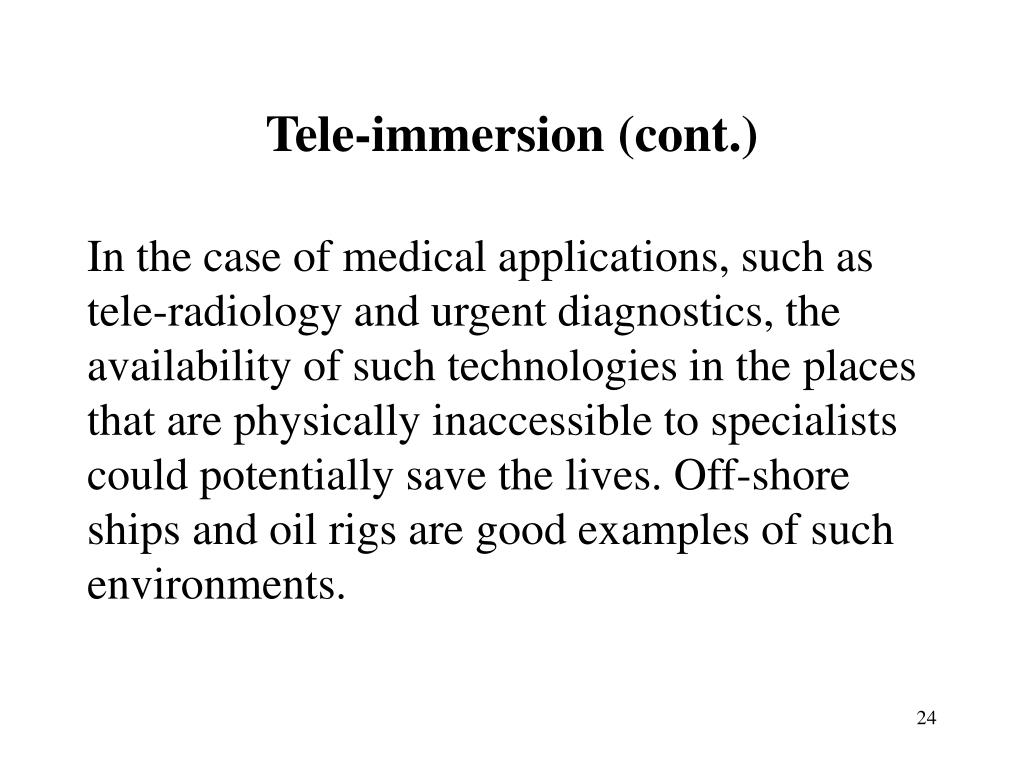 Tele-immersion (cont.)