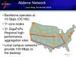 abilene network core map november 2003