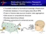 biomedical informatics research network birn www nbirn net