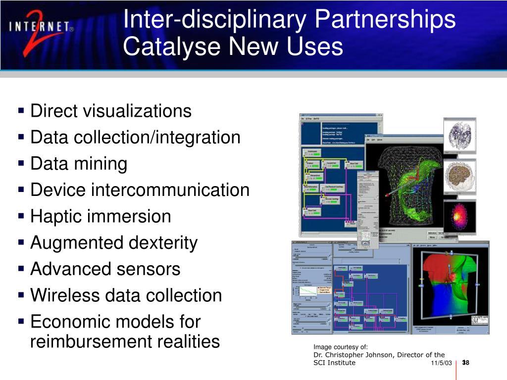 Inter-disciplinary Partnerships Catalyse New Uses
