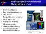 inter disciplinary partnerships catalyse new uses